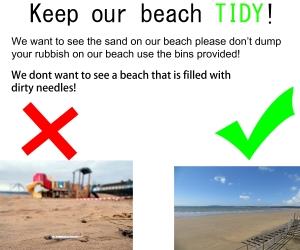 Beach Clean Up Poster.